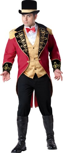 InCharacter Costumes, LLC Plus-Size Ringmaster, Red Gold/Black, 3X-Large