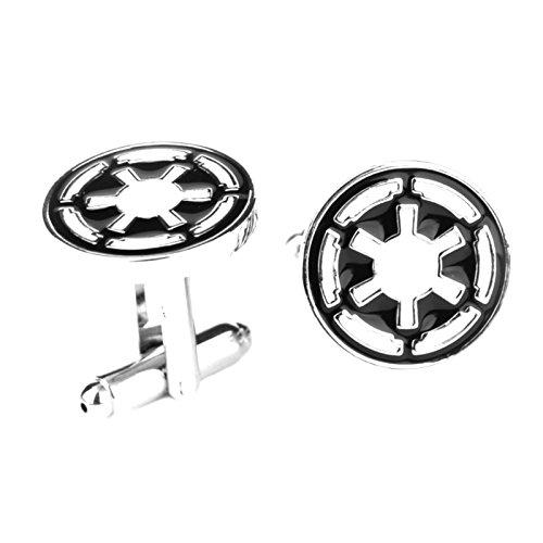 J&C Star Wars Imperial Logo Empire Sith Cog Cufflinks