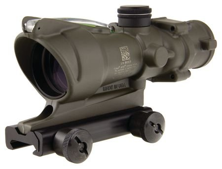 Acog Ta31-C-100379 Dual Illum Green Crosshair .223 Bac Reticle With Flattop Mount, 4X 32Mm, Od Green