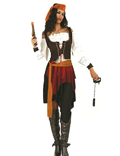 LaLaMa Women's Halloween Pirates Robes Costume Party Cosplay Adult Clothes