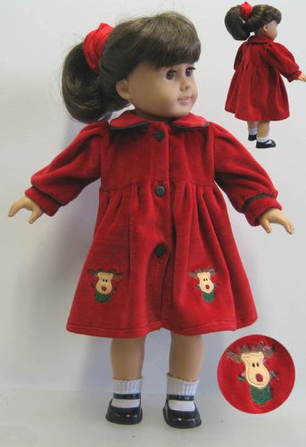 RED VELVET REINDEER DRESS SET