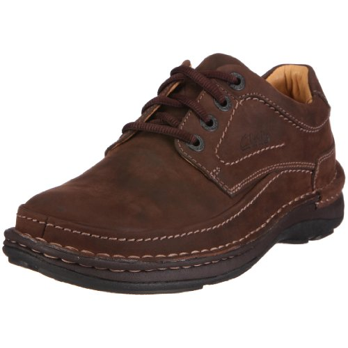 Clarks Nature Three, Men's Lace-Up Shoes - Ebony Oily, 43 EU
