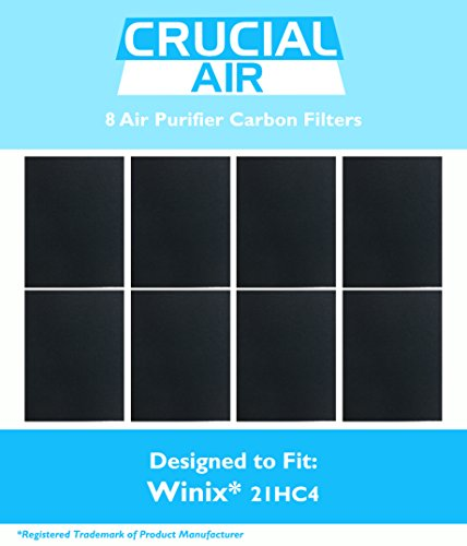 8 Winix-Compatible 115115 Carbon Filter, Fits PlasmaWave Series, Designed & Engineered by Crucial Air