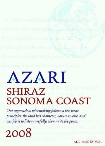2008 Azari Sonoma Coast Shiraz 750 Ml