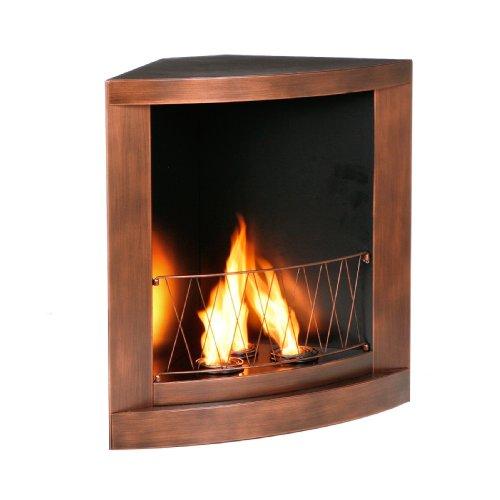 sei copper finish gel corner fireplace home and garden