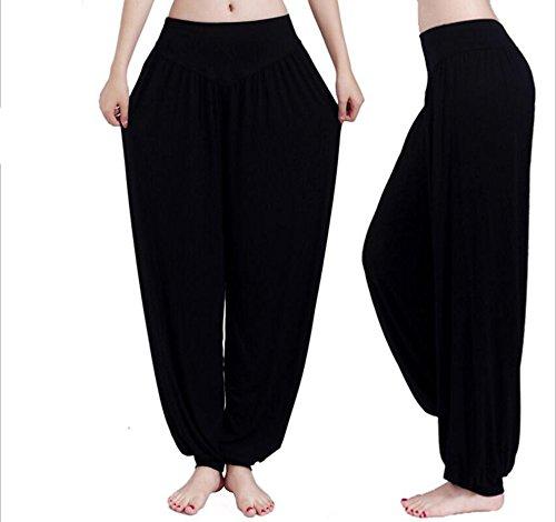 Womens Modal Cotton Soft Yoga Sports Dance Pilates Harem Pants (XL, Black) (Sequin Harem Pants compare prices)