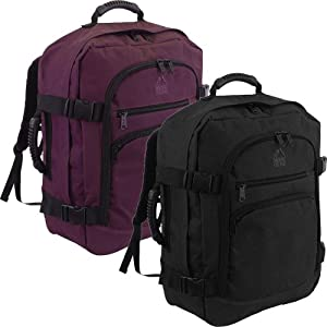 More4bagz Super Lightweight Cabin Approved Backpack Hand Luggage Travel Holdall 44 Litre Bag - FITS 50cm x 40cm x 20cm