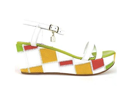 scarpe donna BRACCIALINI sandali multicolor pelle AH379 (39 EU)