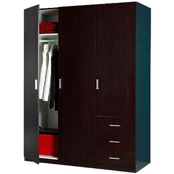 moderno amplio design baño 3 puertas y 3 cajones AR0456 L150h197p62 oscura de wenge