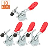 10PCS Toggle Clamp 201A Hold Down Hand Tool 66 lbs / 30 kg Holding Capacity, STARVAST Anti-slip Horizontal Quick Release Toggle Clamp (Color: GH201A-10Pcs)