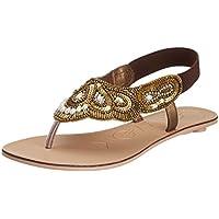 Catwalk Women's Bronze Fashion Sandals - 5 UK (6638BX)