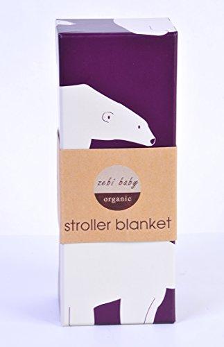 Zebi Baby Stroller Baby Blanket Plum Polar Bear