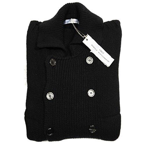 cardigan DANIELE ALESSANDRINI GREY BLU maglione maglia uomo sweater men 55119 [48]