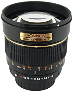Rokinon 85M-N 85mm F1.4 Aspherical Lens for Nikon (Black)