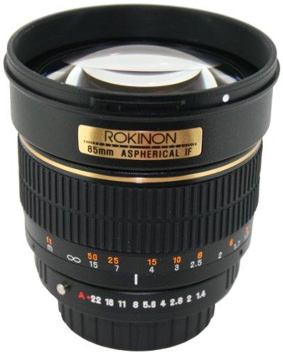 Rokinon 85M-N 85Mm F1.4 Aspherical Lens For Nikon (Black)