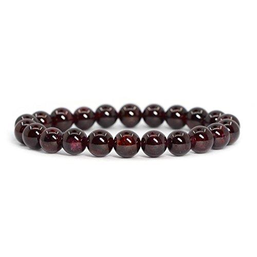 natural-garnet-gemstone-8mm-ball-beads-stretch-bracelet-7-unisex