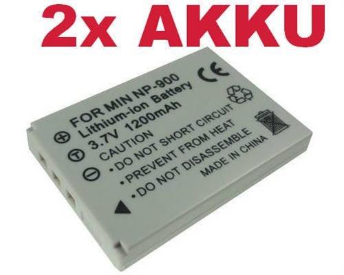 2x Hochleistungs Kamera Li-Ion Akku für Rollei 203 CL82 CL-82 RCP-8325XS RCP-8325X RCP8325XS RCP8325X Maginon Slimline X4 X5 X6 XS7 X50 X60 DC-5080 Performic S5 X-4 X-5 X-6 XS-7 X-50 X-60 DC5080 S-5