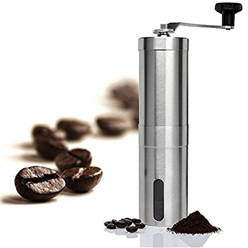 Cusfull Manual Coffee Grinder Stainless Steel Coffee Bean Grinder Adjustable Portable
