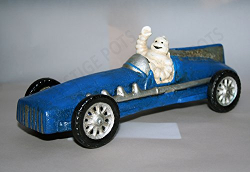 Michelin Man Racing Car Vintage Style Advertising Michelin Tyres Model Ideal For Desk Garage Workshop Home