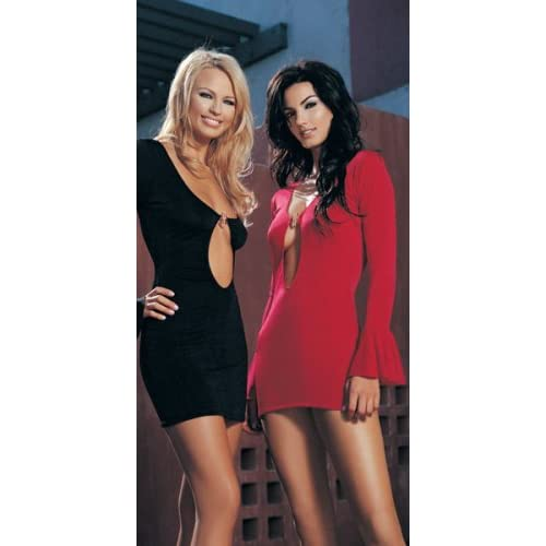 2 Hot girls in Long Sleeved Mini Dress