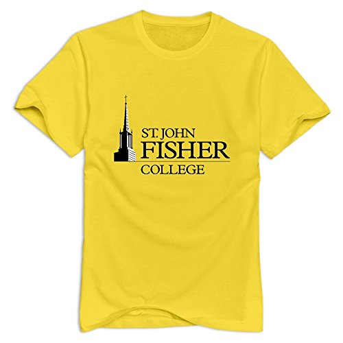 Tavil Saint John Fisher College Short-Sleeve T Shirts For Male Yellow Size M (St John Fisher compare prices)