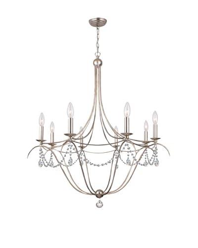 Gold Coast Lighting Draped 8-Light Antique Silver Chandelier