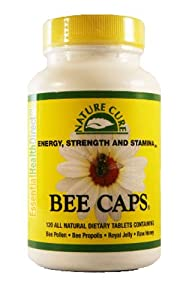 Bee Caps Pollen Propolis Royal Jelly Raw Honey 4 In 1 Capsule Pill Supplement For Energy Strength Stamina Natural Nutrition For Healthy Diet Protein Vitamins Minerals Low Calories 120 Caplets Chewable Nature Cure Ehd Health From The Hive by Essential Heal