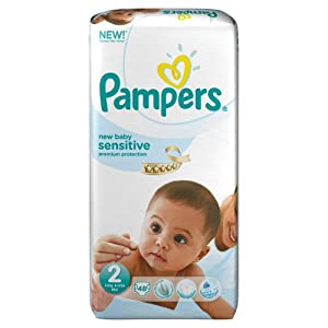 Pampers New Baby Sensitive 2 (Mini) - (Pack of 48)