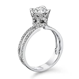 Certified, Round Cut, Solitaire Diamond Ring in 14K Gold / White (1 1/2 ct, J Color, VS2 Clarity)