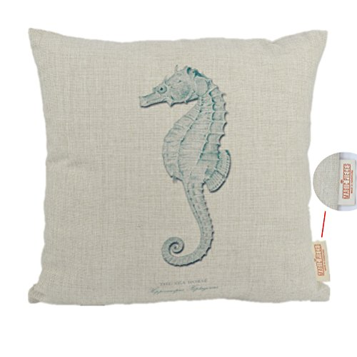 "For Sale! MagicPieces Cotton and Flax Ocean Park Theme Decorative Pillow Cover Case C 18"" x 18&..."