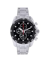 Seiko Men's SNAE69 Stainless Steel Analog with Black Dial Watch