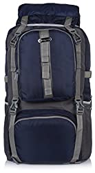 Bag-Age Polyester 60Litres Hiking & Trek Rucksack (Dark Blue)