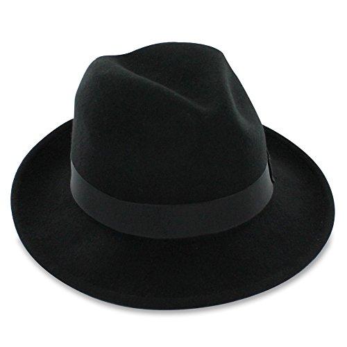 06f8bb90ff7d4 Belfry Bogart (black) - Men s Dress 100% Wool Fedora L