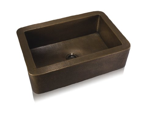 Lenova CA-131 Copper Single Bowl Apron Front Undermount Kitchen Sink, Oil Rubbed Bronze Finish, Large