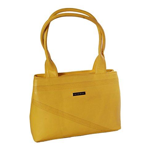 Womaniya Womaniya PU Yellow Handbag For Women(Size-35 Cm X 26 Cm X 10 Cm)