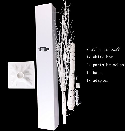 96LED 6Ft Lighted Birch Tree, Decoration for Christmas, Home by Fanshunlite