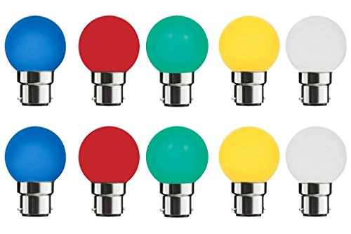 Mehai 0.5 W Plastic LED Bulbs (Multi Color, Pack Of 10)