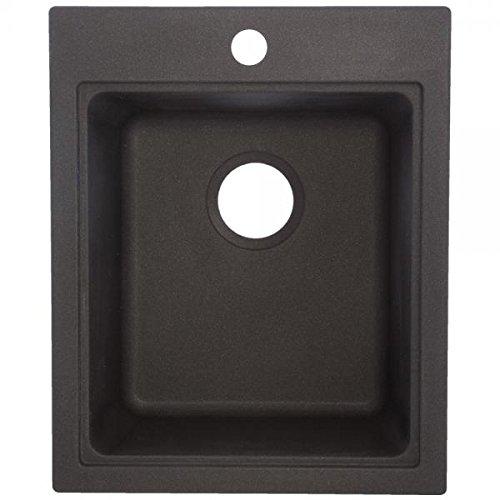 Franke USA SZGR1720-1 Single Bowl Sink Utility Granite 9-Inch Deep, Graphite