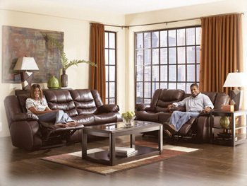 Revolution D Glider Reclining Loveseat With Console front-896194