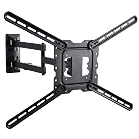 "VideoSecu Long Arm TV Wall Mount Low Profile Full Motion Cantilever Swing & Tilt wall bracket for most 22"" to 55"" LED LCD TV VESA 200x200 400x400 up to 600x400mm Extend 24"" MAH"