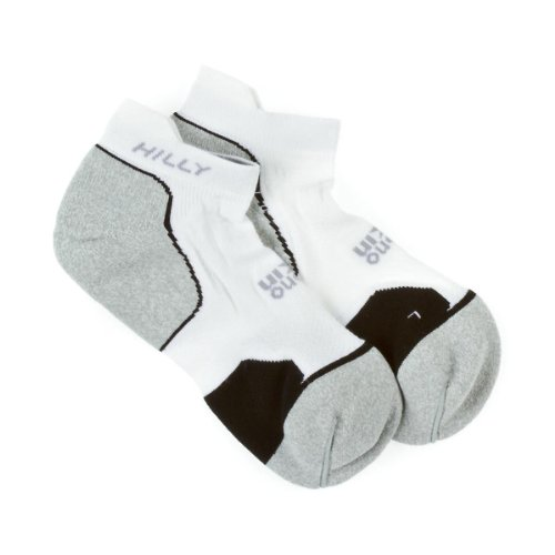 Hilly Mono Skin Supreme Socklet Socks - White/Grey/Black