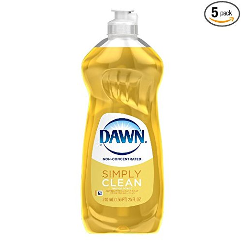 Dawn Dish Soap, Non-Ultra Dishwashing Liquid,  Antibacterial Hand Soap Lemon Scent, 25 Fl Oz (Pack of 5) (Dawn Dish Soap 25 Oz compare prices)