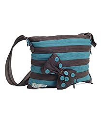Use Me Womens Sling Bag (AQUA BLUE, BROWN) (UMSB189)