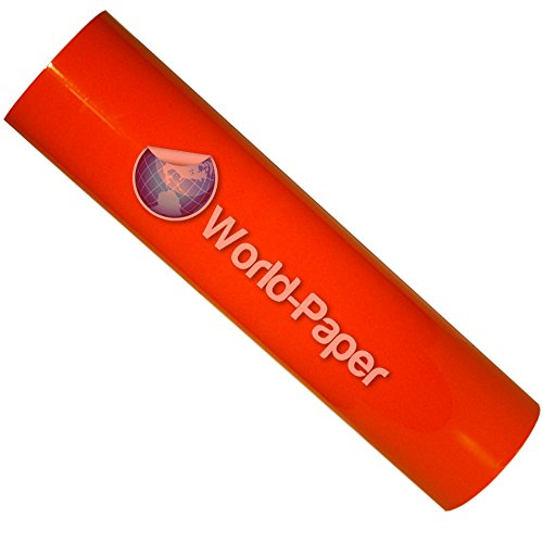 "15""X2 Yards Of The Best Neon Orange Heat Transfer Pu Vinyl Guaranteed, Easy To Weed front-1052060"