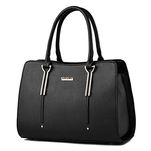 Ryse Womens Fashionable Classic Retro Exquisite Elegance Handbag Shoulder Bag(Black)