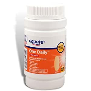 amazon   equate   women s one daily multivitamin 100