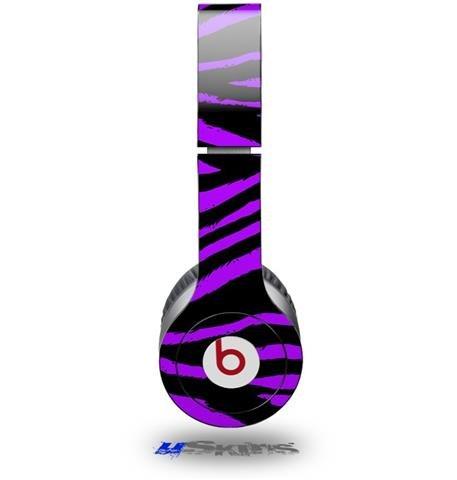 Purple Zebra Decal Style Skin (Fits Beats Solo Hd Headphones - Headphones Not Included)