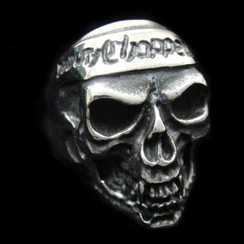 The Biker Metal 316L Stainless Steel Choppers Skull Ring for Harley Rider Motor Biker TR-91 by Priority Mail