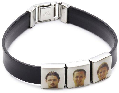 DNA Jewels 908003000 Unisex 'Borussia Mönchengladbach' 3-Piece Rubber Bracelet Starter Set