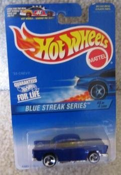 Mattel Hot Wheels 1997 Blue Streak Series 1:64 Scale Blue FABULOUS FIFTIES FLAIR Die Cast Car 3 OF 4
